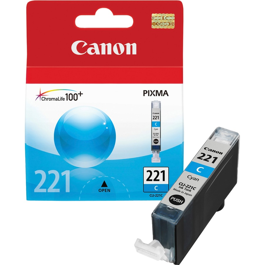 Canon CLI-221C 2947B001 Cyan Ink Cartridge - 535 Page Yield
