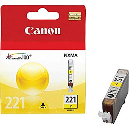 Canon CLI-221Y 2949B001 Yellow Ink Cartridge - 530 Page Yield