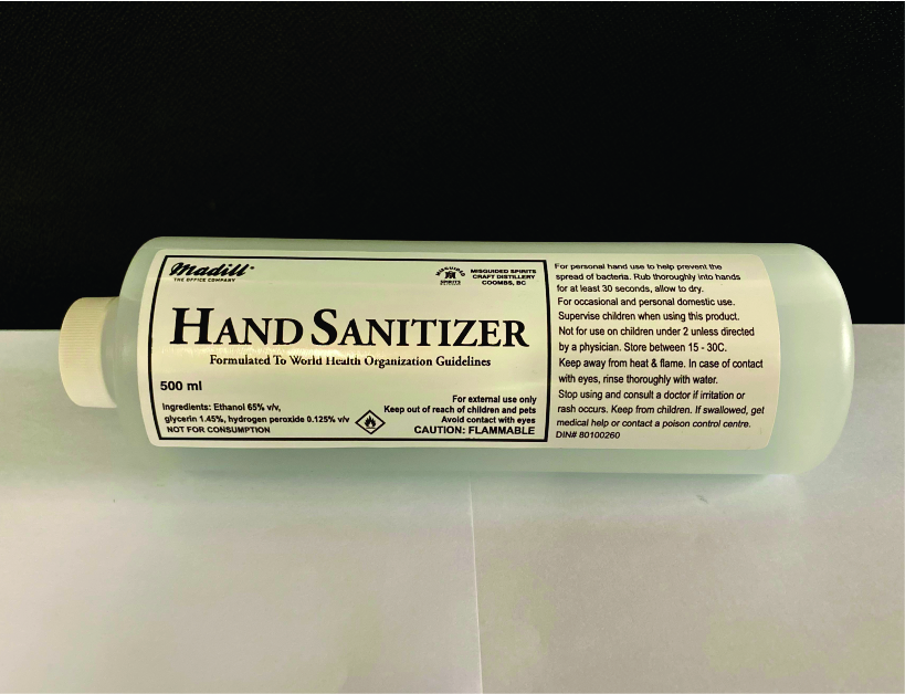 Hand Sanitizer 500ml.  Small Plastic Bottle with Twist Off Cap.  1 Single Bottle. Doesn't smell!