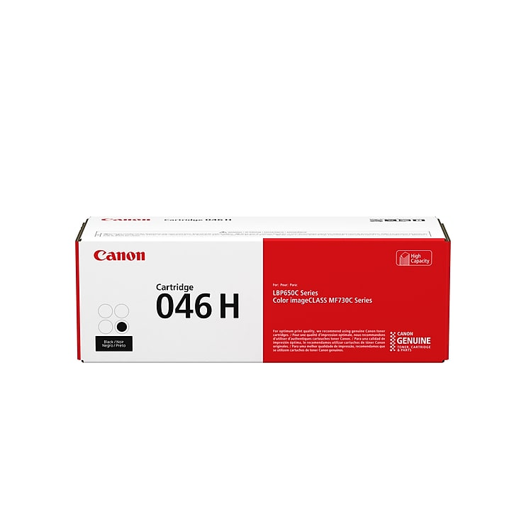 Canon 046H 1254C001 Original Black Toner Cartridge High Yield - 6,300 Page Yield