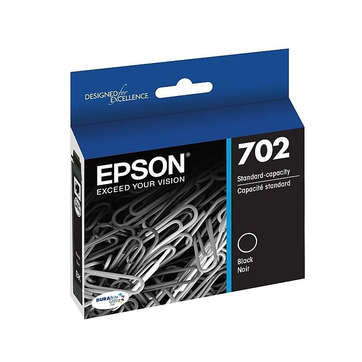 Epson 702 Black Standard Ink Cartridges Dual Pack   2/pk