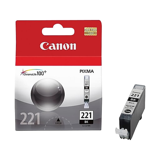 Canon CLI221 2946B001 Black Ink Tank. For Use In: IP3600 IP4600 IP4700 MP550 MP560 MP620 MP640 MP980 MP990 MX860 MX870