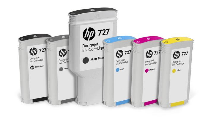 HP 727 40ml GREY DESIGNJET CART. SYN# 5135927