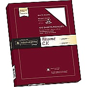 Southworth 100% Cotton Resume Paper 32lb., 8.5 x 11, White, 100/Pack